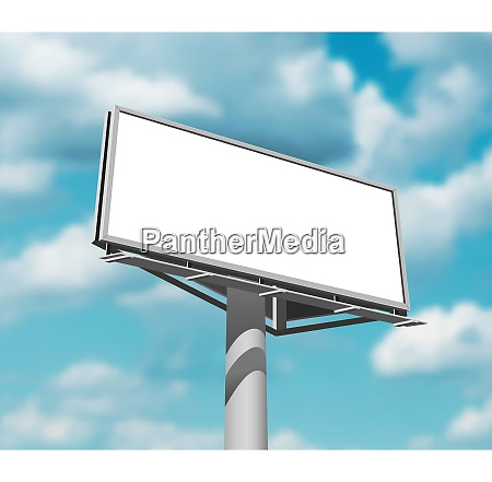 large and prominently placed high billboard