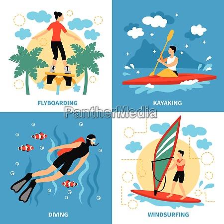 water sport concept water sport vector
