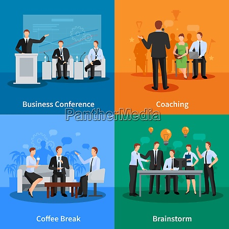 business conference concept business meeting vector
