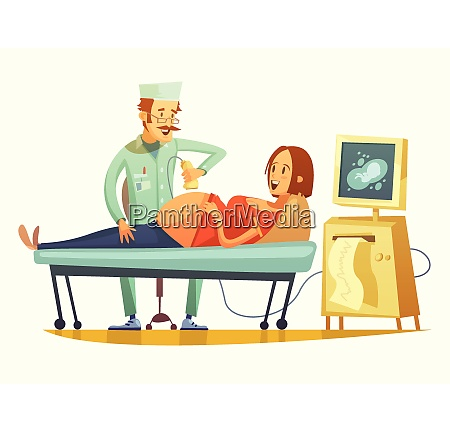 late pregnancy ultrasound screening for birth