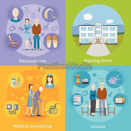 nursing home 2x2 design concept with