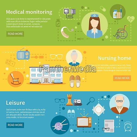 elderly care in nursing home horizontal