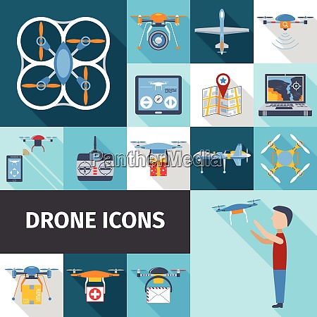 drone and radio control flying gadgets