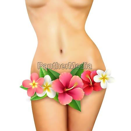 beautiful healthy slim naked woman body