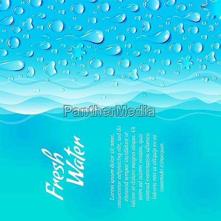 fresh clean natural water consumption healthy
