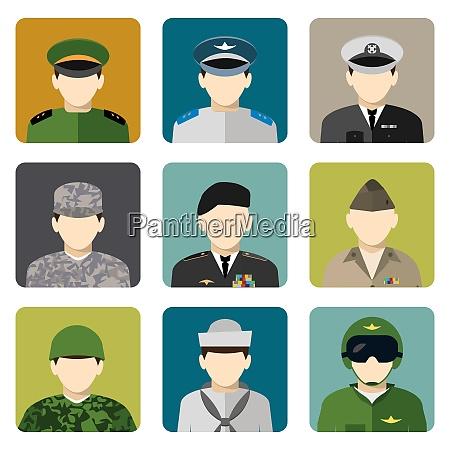 military servicemen in uniform internet users