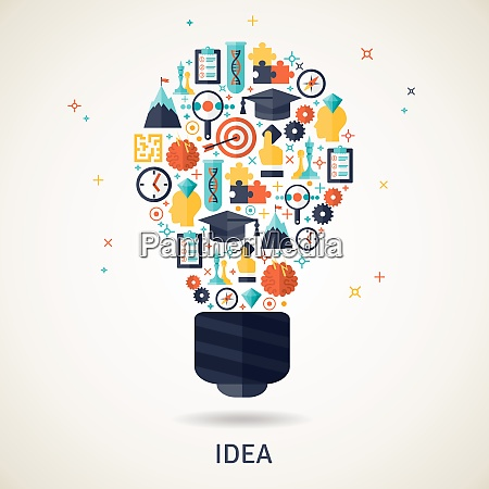 business idea and planning concept illustration