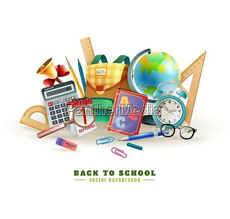 back to school background poster for