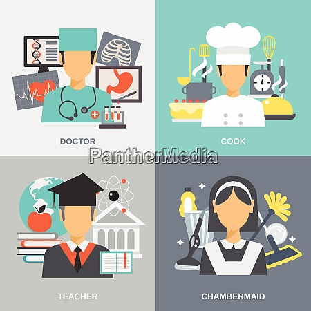 profession design concept set with doctor