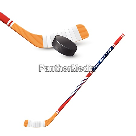ice hockey sport wooden stick and