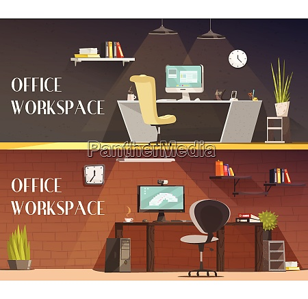 modern office workspace furniture and accessories