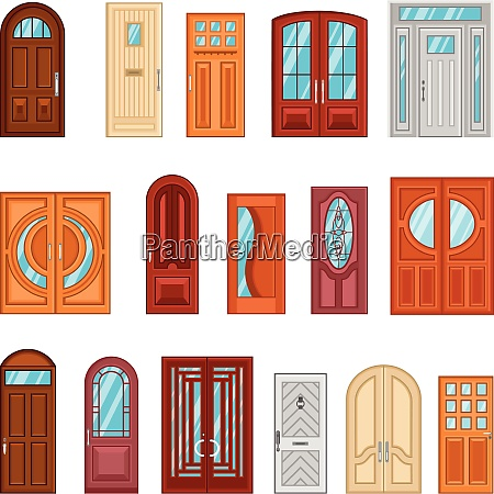 design collection of detailed colorful front
