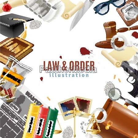 law and order judicial system symbols