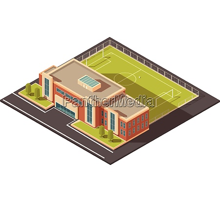 government education or sports institution building