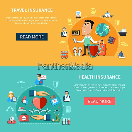 medical and journey insurance horizontal banners