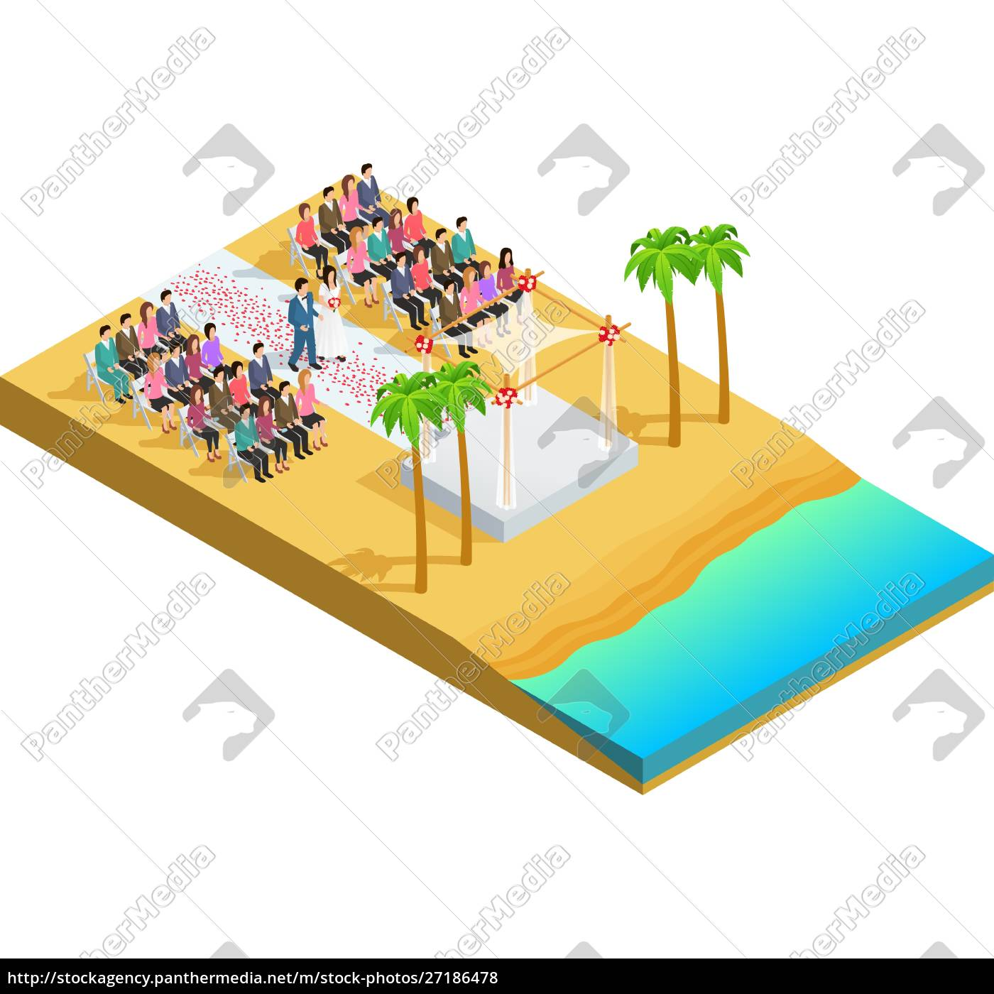 wedding, ceremony, on, a, beach, side - 27186478