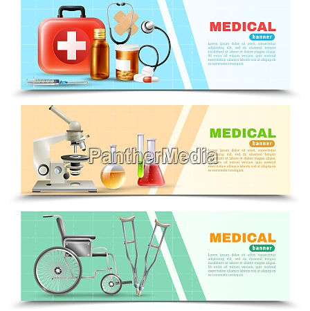 healthcare online 3 medical horizontal banners