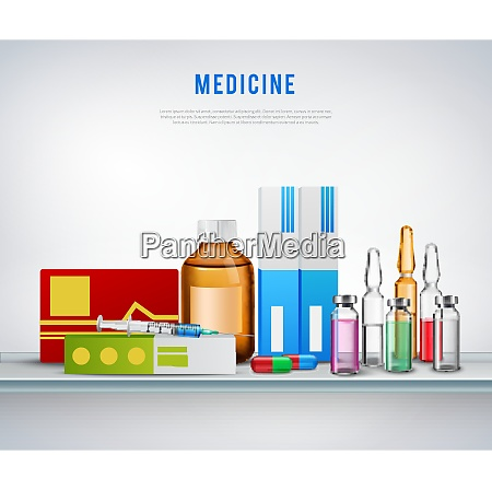 pharmaceutical drugs composition with realistic medical