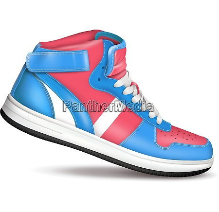 fashion sport sneaker in red and