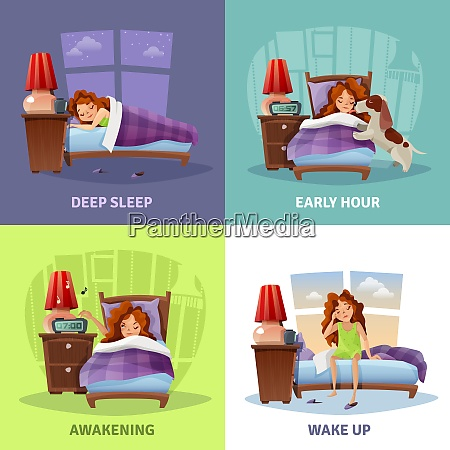 morning awakening 2x2 design concept with