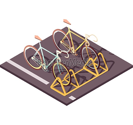 bicycle parking concept with city bike
