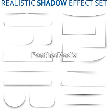 realistic shadow effect collection with white