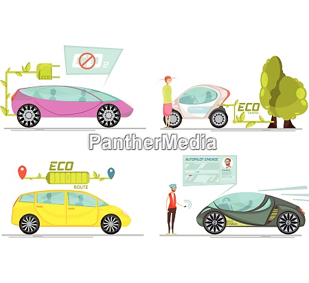 colorful eco friendly electro cars 2x2