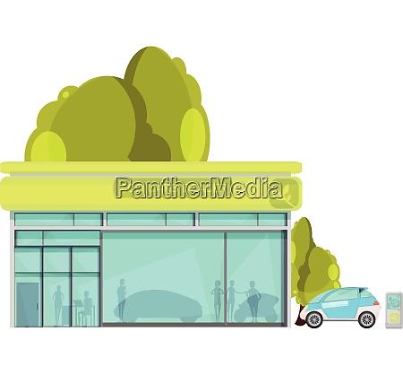flat design eco friendly electro cars