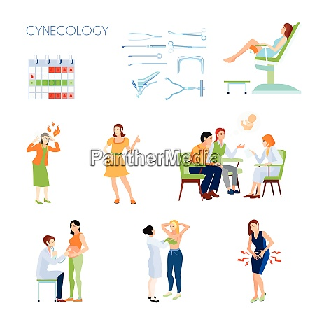 colored and isolated gynecology flat icon