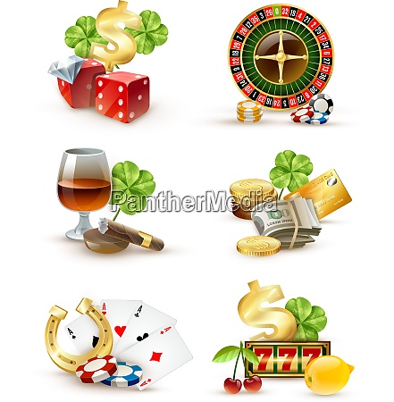 casino luck symbols and games attributes