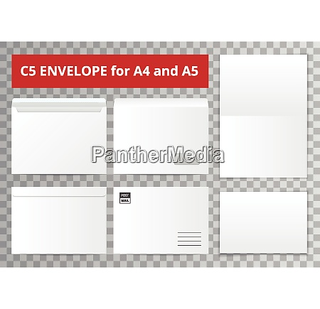 office documents template set with isolated