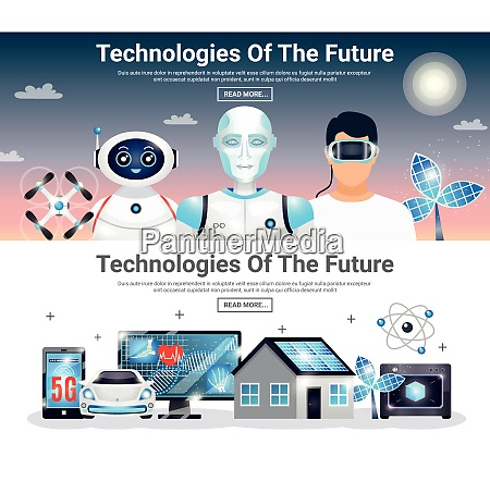 technologies of future horizontal banners with