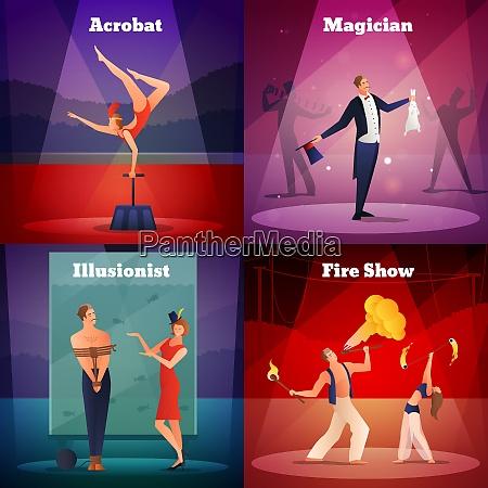 magic show 2x2 design concept set