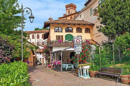 small street and houses of barolo