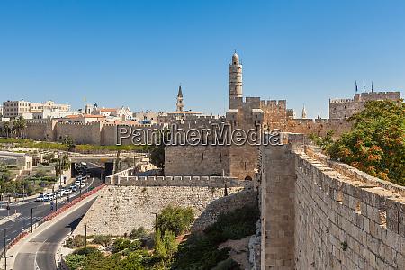 ancient walls and tower of david