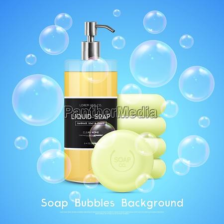 soap liquid dispenser and round bars