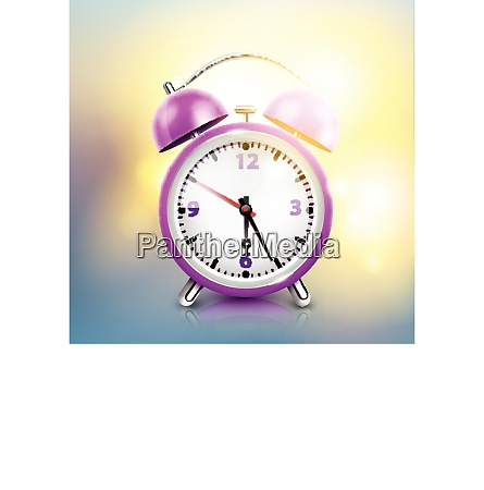 realistic alarm clock background with purple