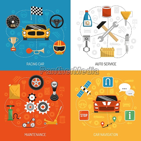 racing car auto service maintenance and