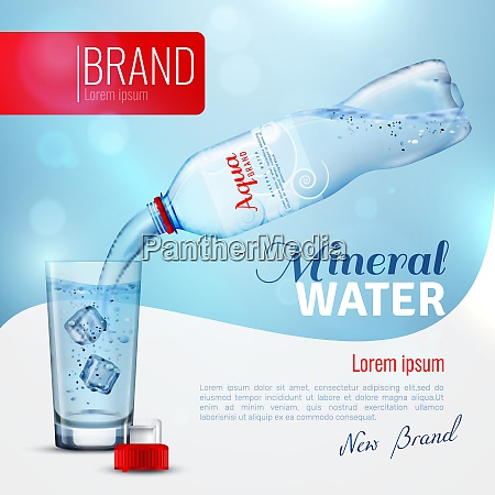 mineral water advertising brand poster with