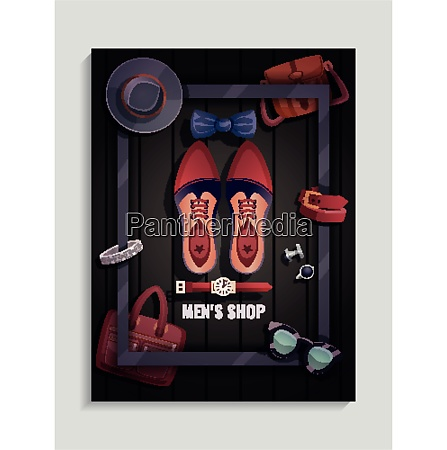 colored men accessories poster men s
