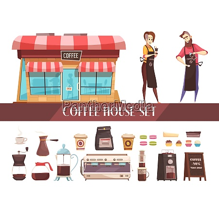 coffee house two horizontal banners with