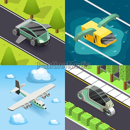 future transport 2x2 design concept set