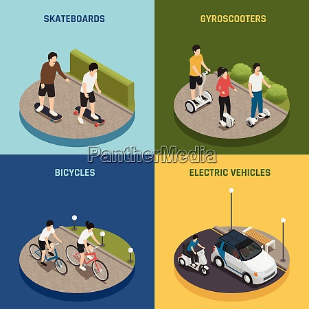 personal eco transportation 2x2 design concept