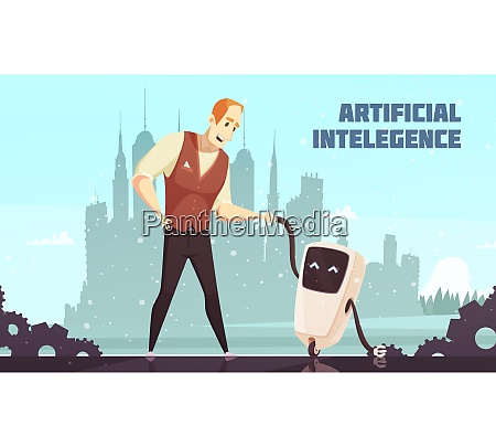 artificial intelligence interacting socially with human