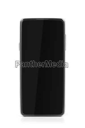 front view of smartphone with empty