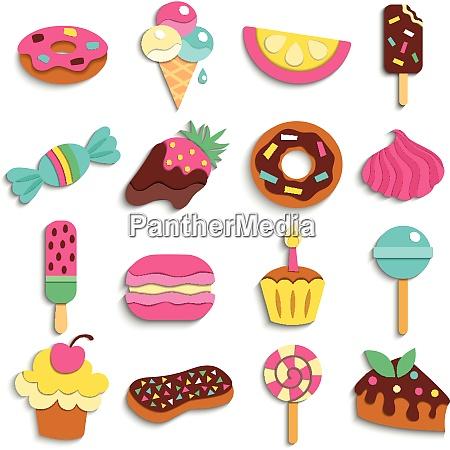 sweets trendy children party treats flat