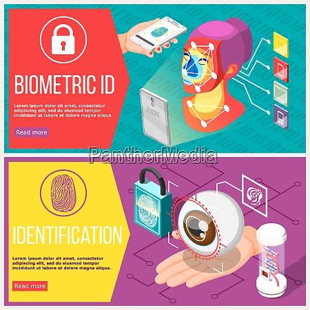 biometric id horizontal banners with retina