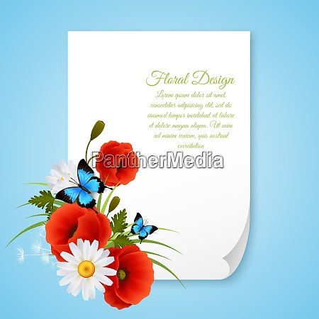 realistic 8 march postcard template with