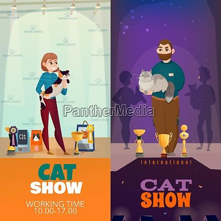 cat breeds show 2 vertical banners