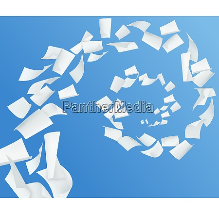 blue background with swirl of white